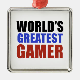 World's greatest GAMER Metal Ornament