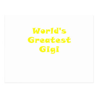 Worlds Greatest Gigi Postcard