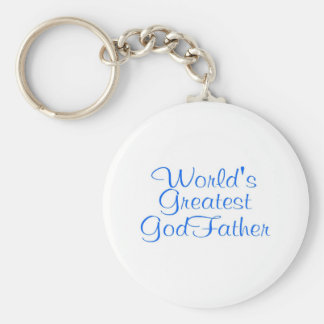 Worlds Greatest GodFather Basic Round Button Keychain