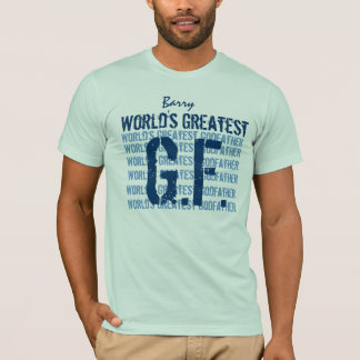 World's Greatest Godfather Custom Name V02 T-Shirt