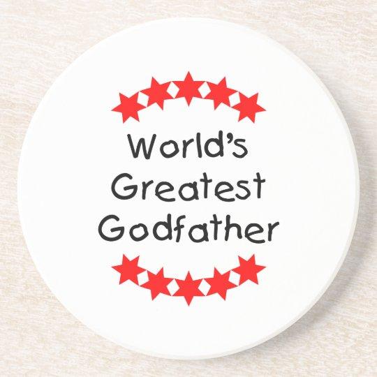 World's Greatest Godfather (red stars) Coaster