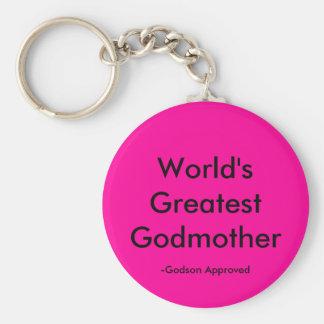 World's Greatest Godmother, -Godson Approved Basic Round Button Keychain