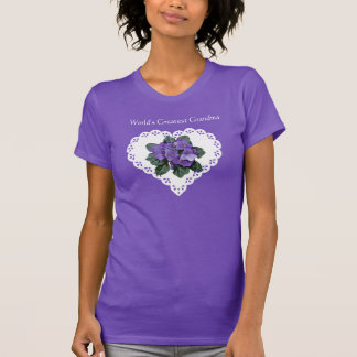 World's Greatest Grandma African Violet & Doily Tees