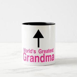 Worlds Greatest Grandma Arrow Two-Tone Coffee Mug
