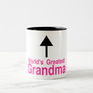 Worlds Greatest Grandma Arrow Two-Tone Mug
