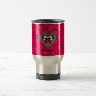 World's greatest grandma cute owl travel mug