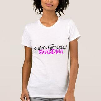 Worlds Greatest Grandma Pink Black Tshirts
