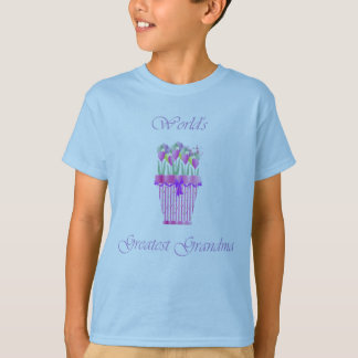world's greatest grandma (pink flowers) T-Shirt