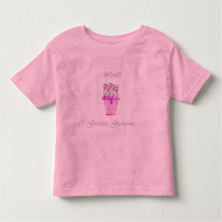 world's greatest grandma (pink flowers) toddler t-shirt