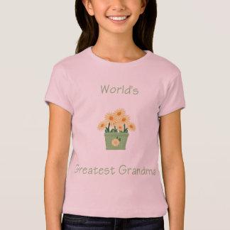 world's greatest grandma (yellow flowers) T-Shirt