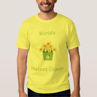 world's greatest grandma (yellow flowers) tee shirt