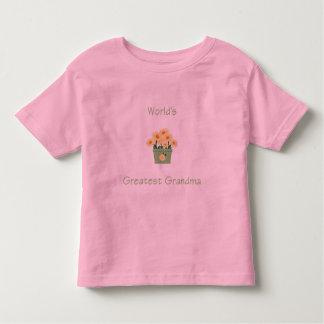 world's greatest grandma (yellow flowers) toddler t-shirt