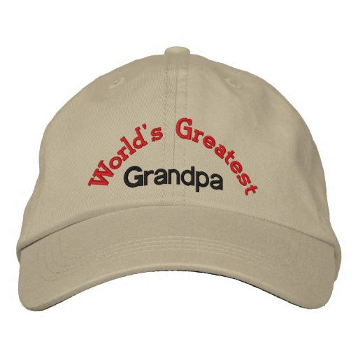 World's Greatest  Grandpa Embroidered Hat
