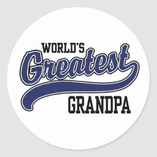World's Greatest Grandpa Round Stickers