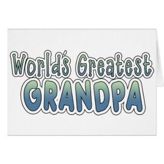 World's Greatest Grandpa Words Card