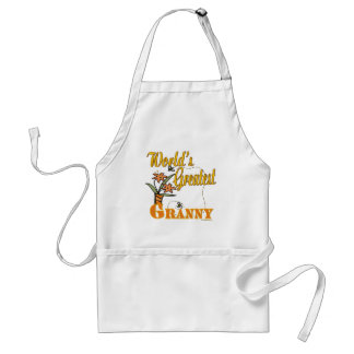 Worlds Greatest Granny Floral Standard Apron