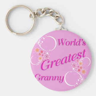 World's Greatest Granny Keychain