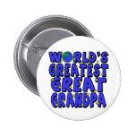 World's Greatest Great Grandpa Pinback Button