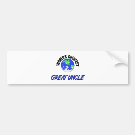 World's Greatest Great Uncle Bumper Stickers