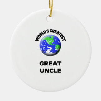 World's Greatest Great Uncle Round Ceramic Ornament