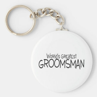 Worlds Greatest Groomsman Basic Round Button Keychain