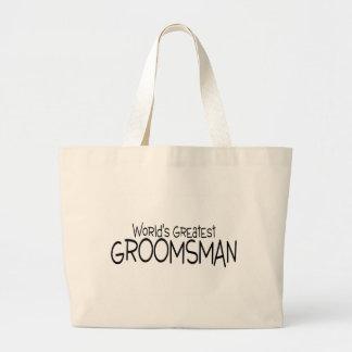 Worlds Greatest Groomsman Jumbo Tote Bag