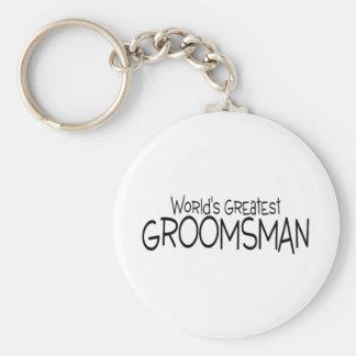 Worlds Greatest Groomsman Basic Round Button Keychain