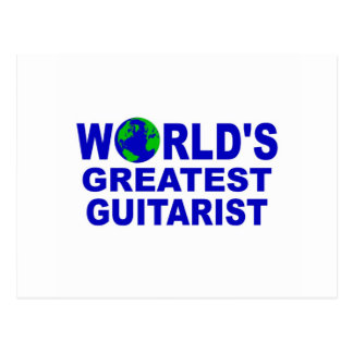 World's greatest Guitarist Postcard