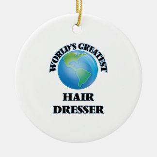 World's Greatest Hair Dresser Christmas Tree Ornament