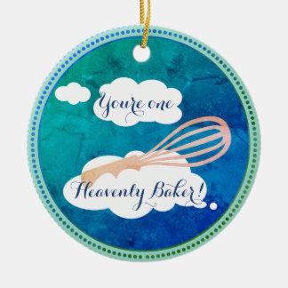 World's greatest heavenly baker Christmas ornament