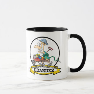 WORLDS GREATEST HOARDER MEN CARTOON MUG