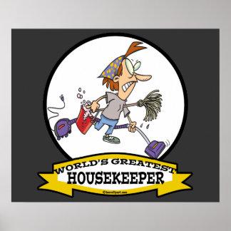 WORLDS GREATEST HOUSEKEEPER WOMEN CARTOON POSTER