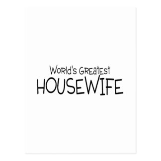 Worlds Greatest Housewife Postcard