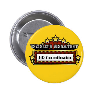 World's Greatest HR Coordinator 2 Inch Round Button