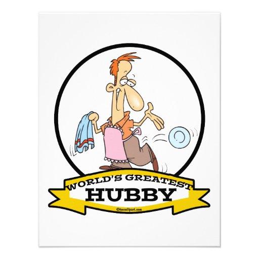 WORLDS GREATEST HUBBY MEN CARTOON CUSTOM INVITE