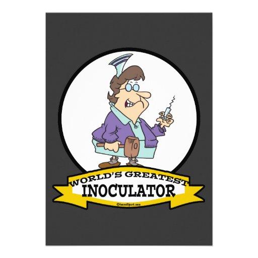 WORLDS GREATEST INOCULATOR CARTOON PERSONALIZED ANNOUNCEMENT