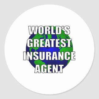 World's Greatest Insurance Agent Round Sticker