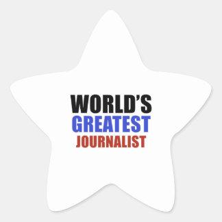 World's greatest JOURNALIST Star Sticker