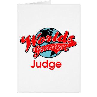 World's Greatest Judge Card