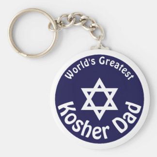 World's Greatest Kosher Dad Keychain
