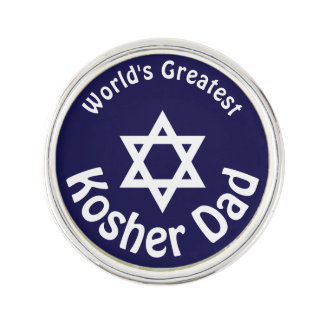 World's Greatest Kosher Dad Lapel Pin