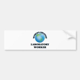 World's Greatest Laboratory Worker Bumper Stickers