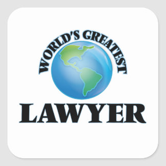 World's Greatest Lawyer Square Stickers