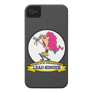 WORLDS GREATEST LEAD SINGER FEMALE CARTOON iPhone 4 COVER