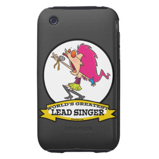 WORLDS GREATEST LEAD SINGER FEMALE CARTOON TOUGH iPhone 3 COVER