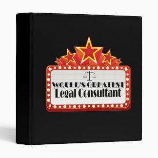World's Greatest Legal Consultant Vinyl Binder