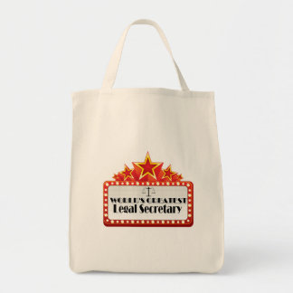 World's Greatest Legal Secretary Grocery Tote Bag