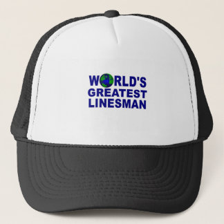 World's Greatest Linesman Trucker Hat