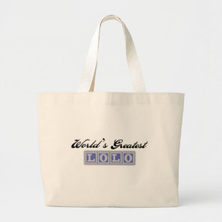 World's Greatest Lolo Canvas Bag
