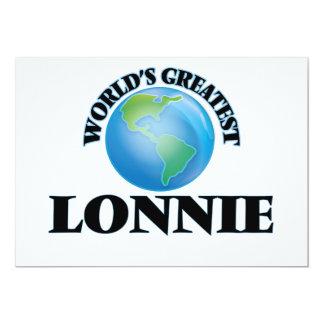 "World's Greatest Lonnie 5"" X 7"" Invitation Card"